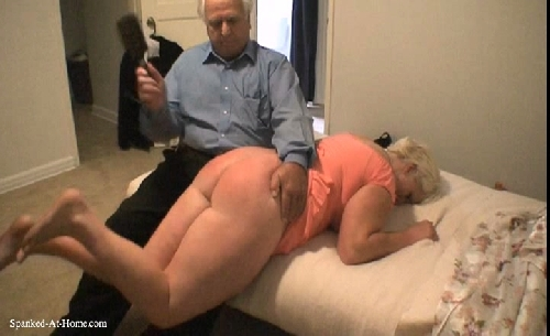 Naughty husband spank